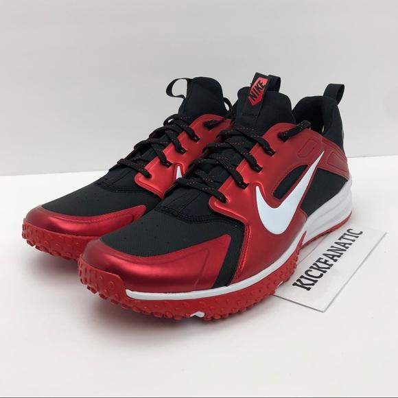 afef8c2eedee Nike Alpha Huarache Turf Baseball Red Black Sz 12